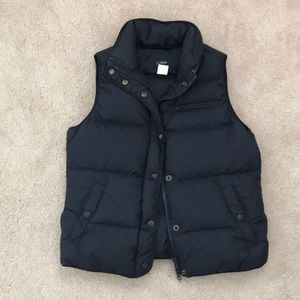 J Crew Puffer Vest, Navy, XS